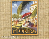 Florida Vintage Postcard Save the Date
