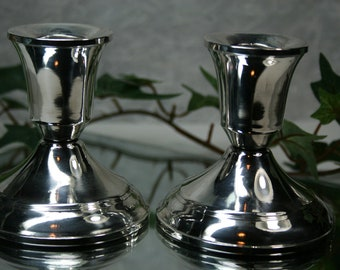 Vintage Pair Sterling Candle Holders- Duchin Creations