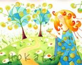 Baby girl Room Decor, Nursery Art -Fairyland