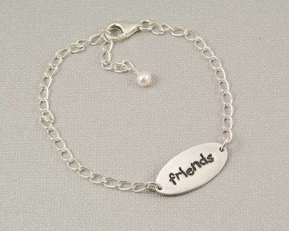 Friendship bracelet, best friends bracelet, gift for friend, friends forever jewelry, sterling silver bracelet, handmade jewelry