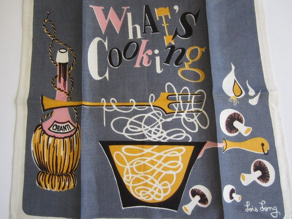 MWT Vintage Towel Whats Cooking