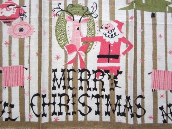 Vintage Towel Pat Prichard Santa