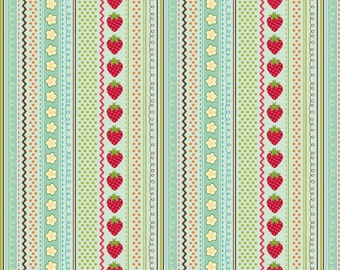 Riley Blake Designs Fly a Kite Stripes by October Afternoon, Teal (mint green)