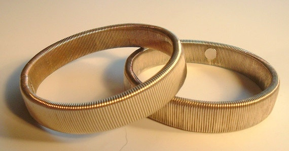 elastic holder bracelet pair of elastic metal bracelets or cuff holders 8228