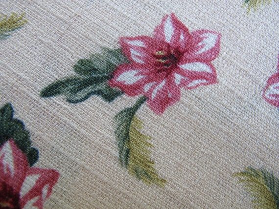 RESERVED for JUDY Retro Print Fabric, Hibiscus Fern Fabric, Karen Jarrar, Marcus Brothers
