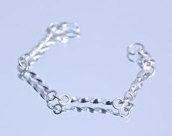 Twisted Triangle Wire Bracelet