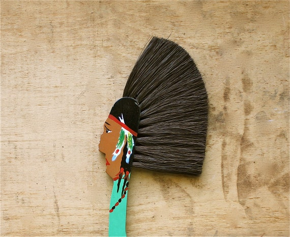 Chief of Crumbs - Vintage Crumb Sweeper - Vintage Indian Crumb Sweeper