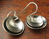 Sterling Silver Earrings double domes