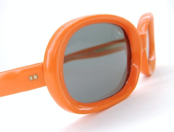 Vintage Orange 60s Sunglasses 1960s Italy