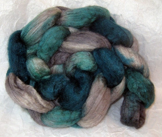 Merino/Yak/Silk Combed Top/Roving - Wuthering Heights - approx. 4 oz