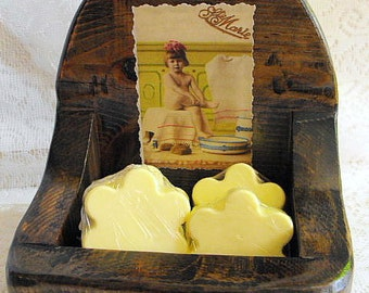 Soap Caddy Bath Time Rustic Gothic Revival