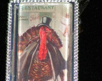 Thanksgiving Turkey  Pendant Necklace