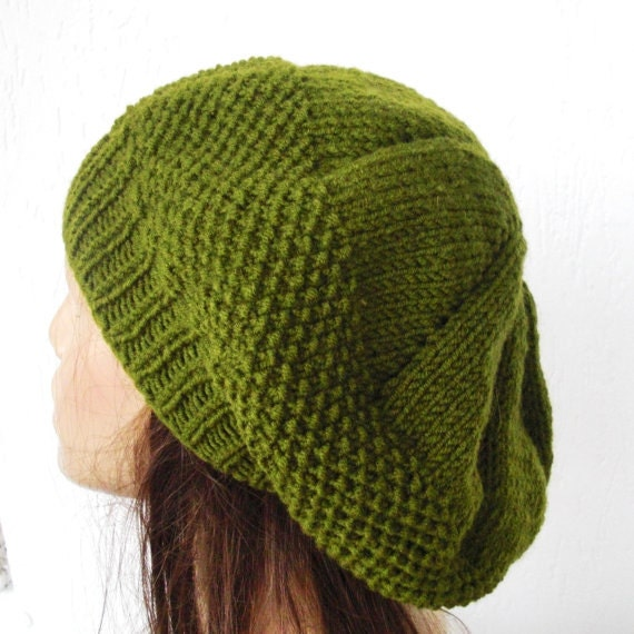 Womens Knit Hat Pattern : Instant Download Knitting Pattern PDF Knit hat pattern by ...