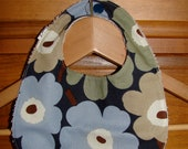 Mini Unikko Baby Bib with Beige Terry and snap, Finland new color way for fall 2012