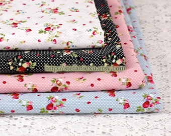 Sweet Chic Wild Strawberry and Tiny Dots Collection, Choose Color - Japanese Cotton Fabric (1/2 Yard)