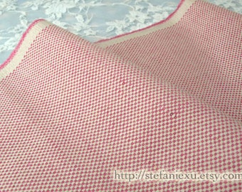LAST PIECE - Solid, Simple Soft Pink - Japanese Dyed Cotton Canvas Fabric (LAST Piece, 16.5x43 Inches )