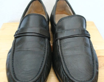 Emporium Capwell SF Buttery Soft Dark Green Leather Loafers Size 7.5D or 8.5 to 9B