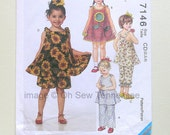 Precious Little Girls Sportswear and Dresses - McCalls 7146 - a Sewing Pattern