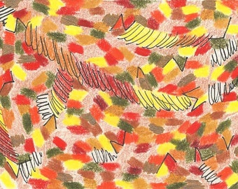 Falling Leaves, digital print, leaves, fall, autumn, leaf, yellow, red, brown