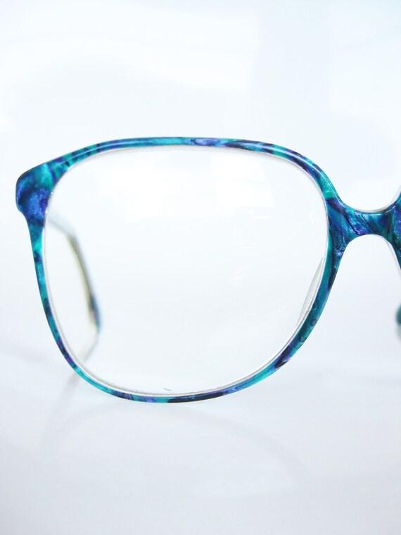 Vintage COBALT Oversized Eyeglass Sunglass by OliverandAlexa