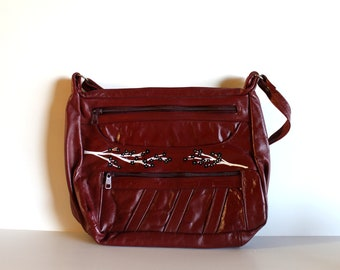 VINTAGE burgundy purse - Bloom