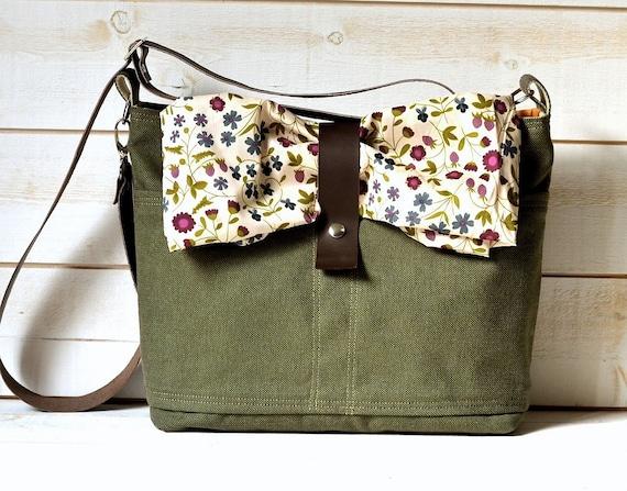 Reserved for Stacie - Unisex Waterproof  OLIVE GREEN 2 Messenger bag  / Laptop Bag / Diaper Bag / Travel Bag / Cross body