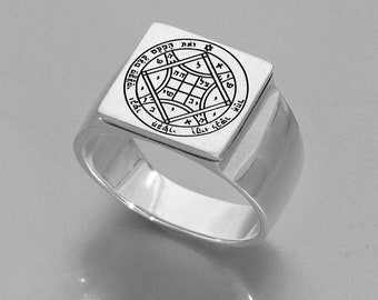 Sterling silver ring . Kabbalah Ring, Love ring, Solomon Love seal , blessing jewelry