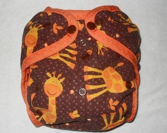 Giraffe PUL diaper cover