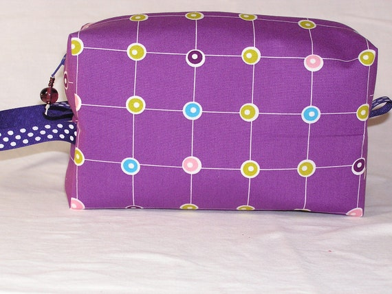 Purple Ring Toss Midi Bag
