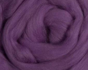 Merino Wool Roving, Lilac, 4 ounces