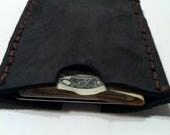 Mens Womens Leather Credit Card Holder Front Pocket Wallet Grey Black Brown