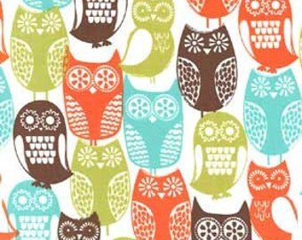 Michael Miller Fabric Swedish Owls Brown