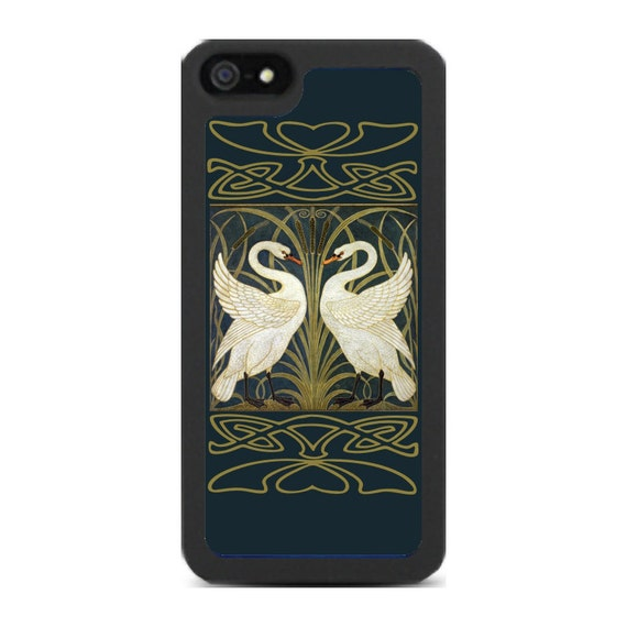 iPhone 4 iPhone 5 Covers - Swans by Walter Crane.
