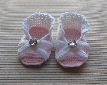 Instant Download Crochet Pattern #88 Baby Girl Sandals 3-6 Months
