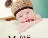 Beary Cute Newborn Baby Hat Perfect Photo Prop