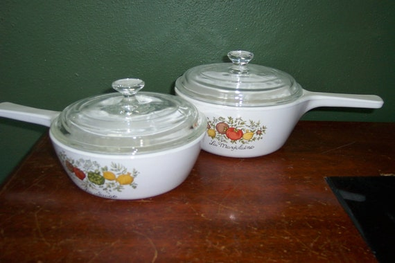 Corning Ware Skillet Set of 2 with Lids  Spice of Life