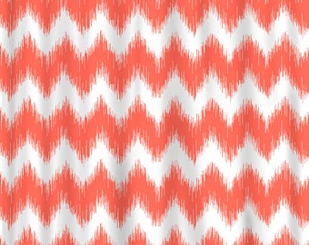 Custom Chevron Ikat Shower Curtain- Available Any Color