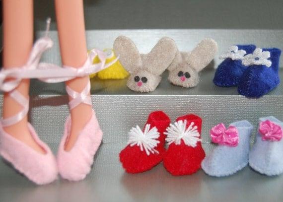 """Lalaloopsy Pattern -Fun Felt Footwear for 12"""" Lalaloopsy dolls- pdf sewing pattern- make it yourself"""