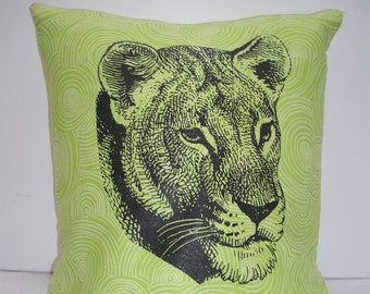 Face of a Lioness Cushion Cover