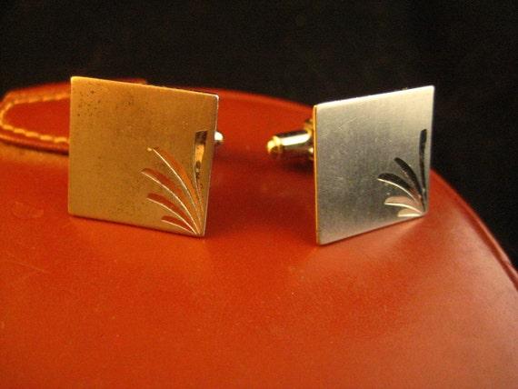 Diamond Cut Sterling Silver Square Cufflinks