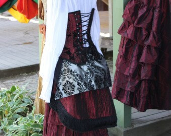 Red, and Silver Bustle