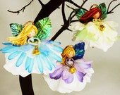 Angel Tree Ornament, Christmas Tree Angel Doll, Flower Fairy Doll, Angel Decoration, Angel Decor, Christmas Angel