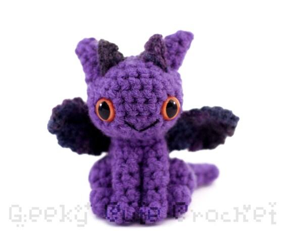 Dragon Amigurumi - Purple Multicolored