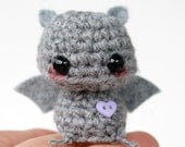 Baby Gray Bat - Kawaii Mini Amigurumi