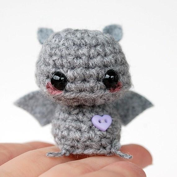 Baby Gray Bat - Kawaii Mini Amigurumi
