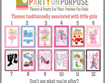 Girl Birthday Banner and Cupcake Toppers Fully Assembled Decorations