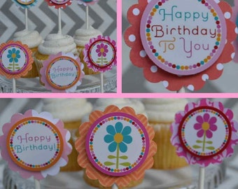 Popular items for flower birthday on Etsy