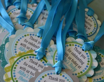 It's a Boy Baby Shower Favor Tags Fully Assembled Decorations