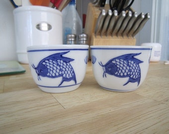 Koi fish tea cups