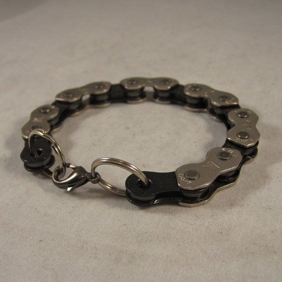 Discontinued - Black and Silver Bike Chain Bracelet